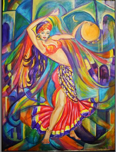 Salome (80x60) Acryl, Öl/LW