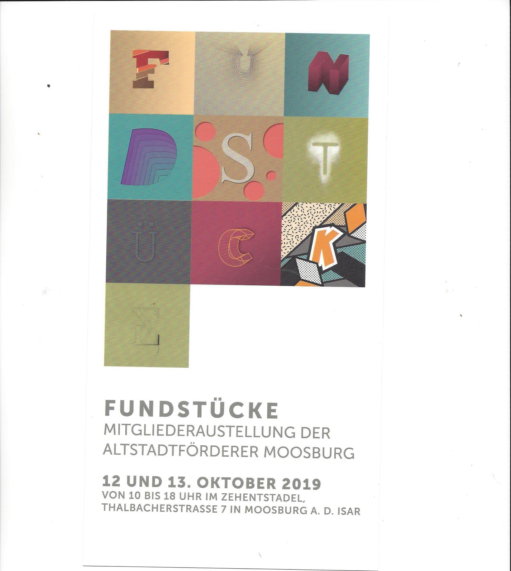 Mitgliederausstellung  der Altstadtförderer Moosburg 2019