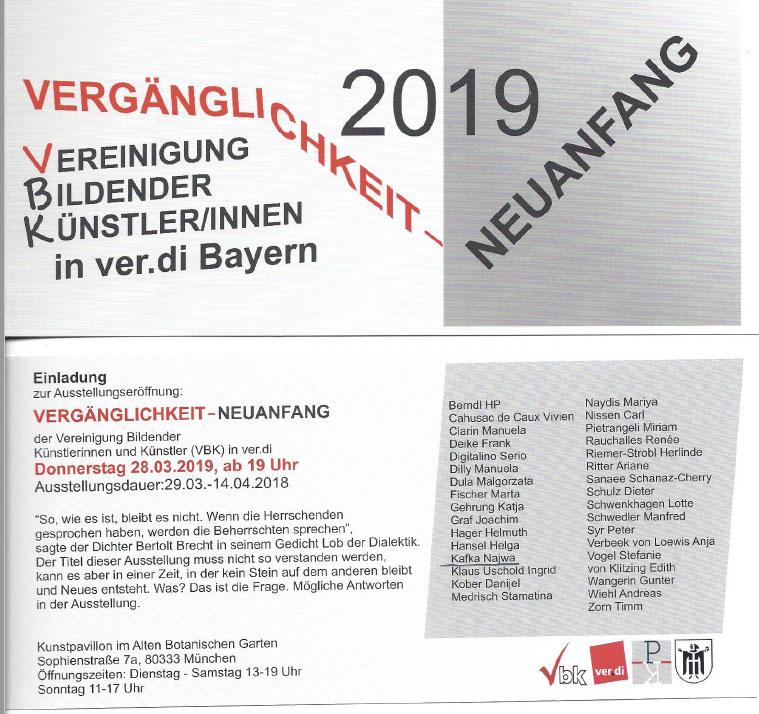 Jahres Ausstellung  VBK / München 2018  (Gestaltung der Karte von Herrn Serio Digitalino)