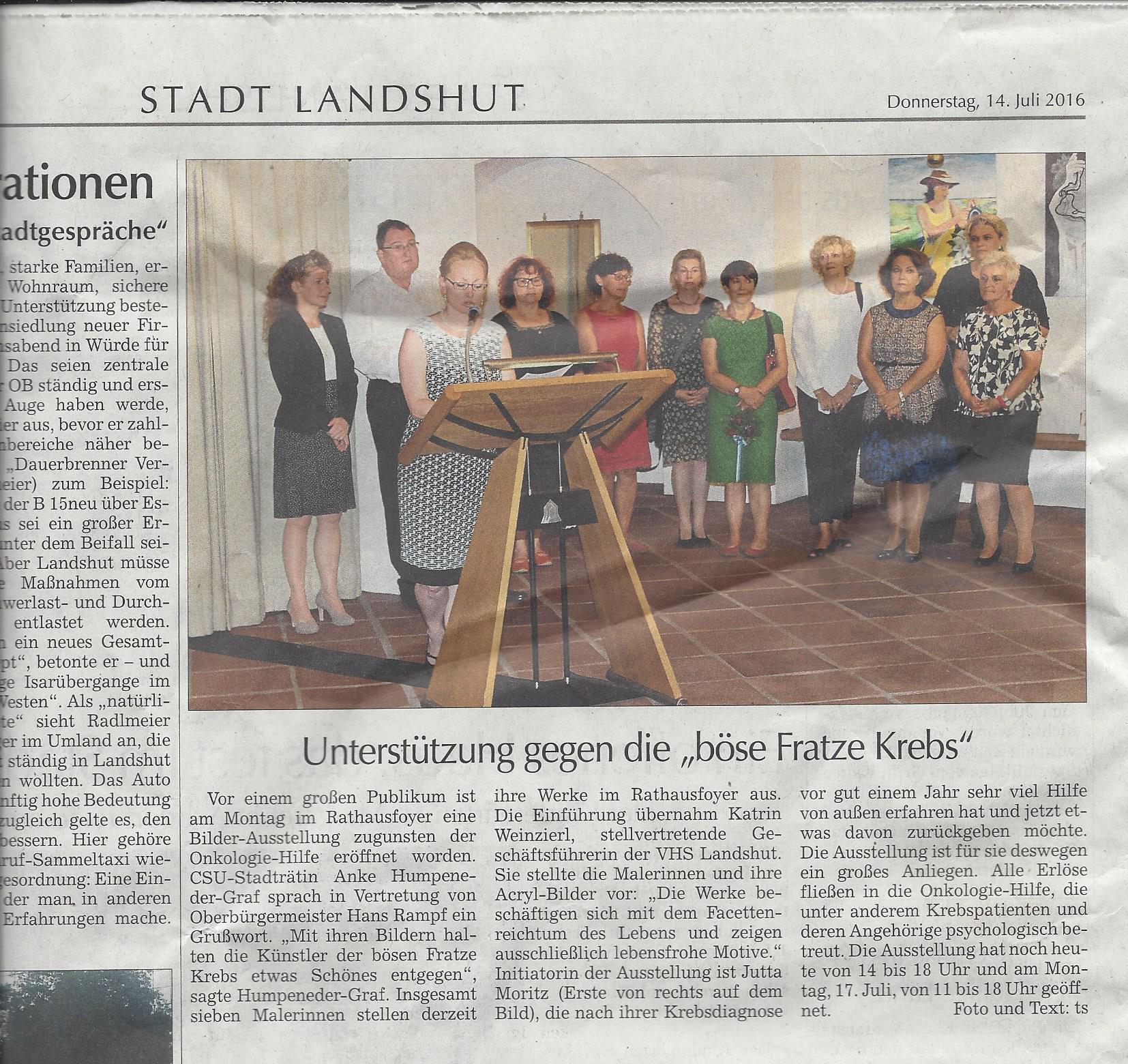 Rathausfoyer Landshut 2017