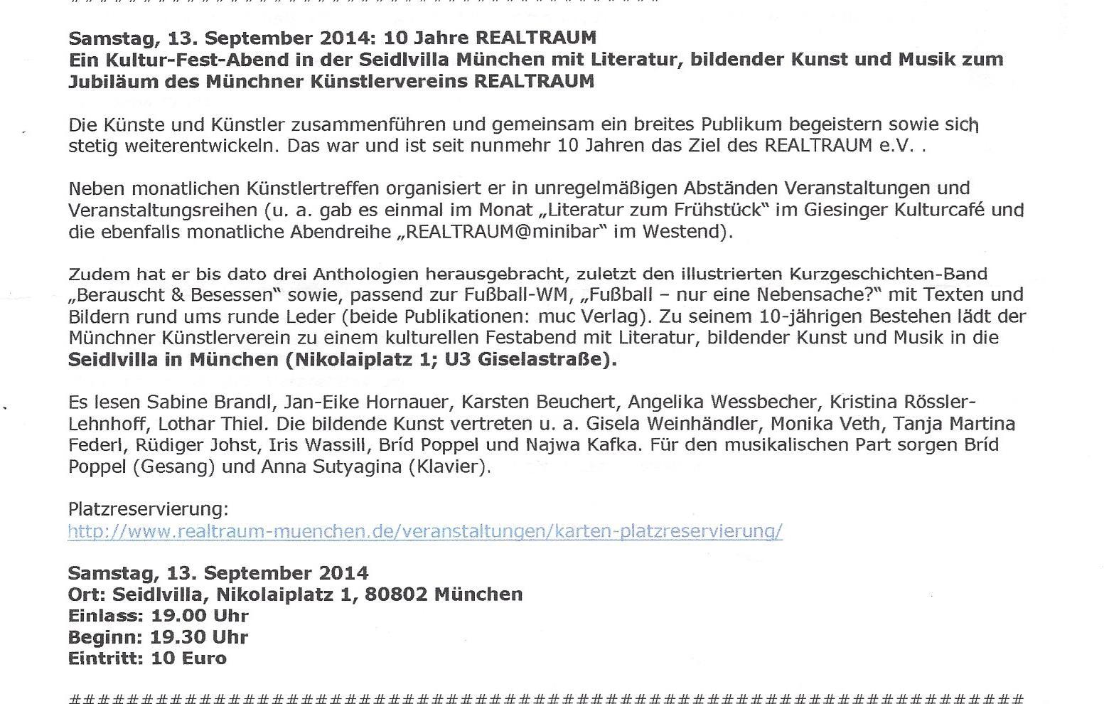 Realtraum München  10 Jahre jubiläum 2014